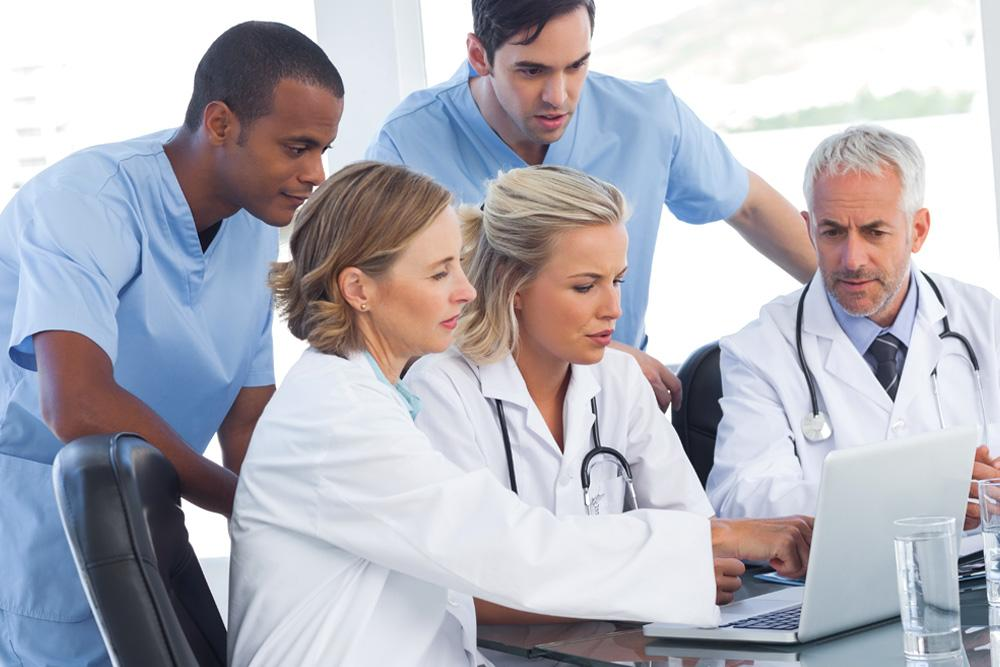 CMS Meaningful Use Doctors Stock Photo